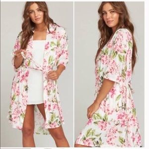 FLORAL SHOW ME YOUR MUMU GARDEN OF BOOMS BRIE ROBE